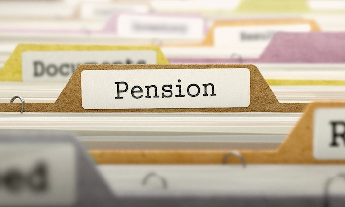 Named file in filing draw reading pension