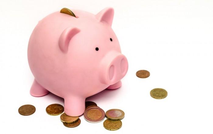 Piggy bank with money, savings needing an accountant.