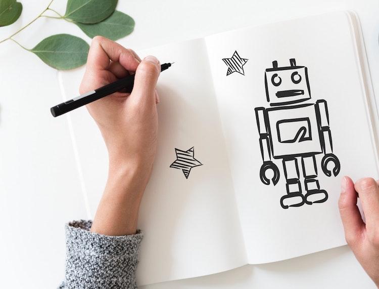 Robot illustrating automation on jobs.
