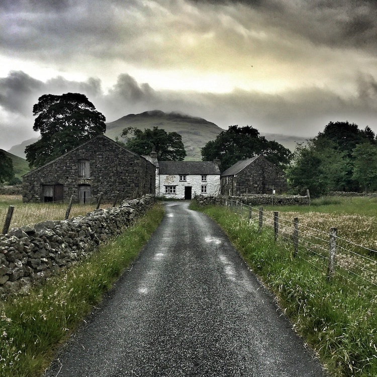 House at the end of a country lane.