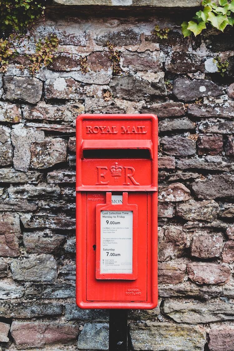 Royal mail post box.